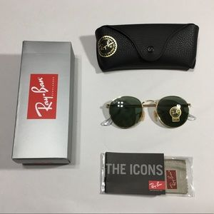 Ray Ban Round Metal RB 3447 Classic Gold Frame